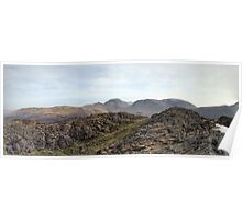 View From Haystacks Summit, Lake District Poster