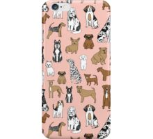 Dogs Dogs Dogs - Pink Background iPhone Case/Skin