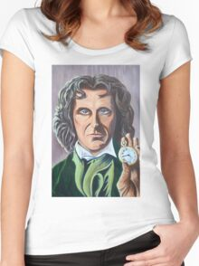 Paul McGann as Doctor Eight Women's Fitted Scoop T-Shirt