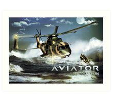 EH-101 Merlin Helicopter Art Print