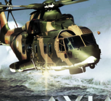 EH-101 Merlin Helicopter Sticker