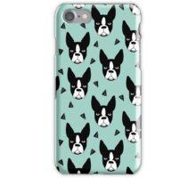 Boston Terrier - Mint iPhone Case/Skin