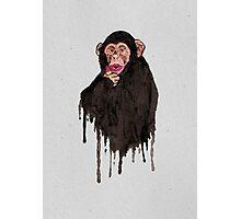 Lipstick Chimp Photographic Print