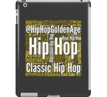 Real Hip Hop Word Cloud Art iPad Case/Skin