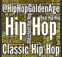 Real Hip Hop Word Cloud Art by HHGA