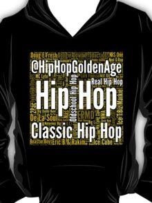Real Hip Hop Word Cloud Art T-Shirt