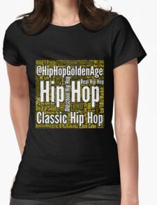 Real Hip Hop Word Cloud Art Womens Fitted T-Shirt