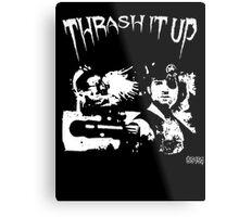Thrash Snake B&W Metal Print
