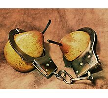 """The """"Pear"""" Of You Are Under Arrest! Photographic Print"""