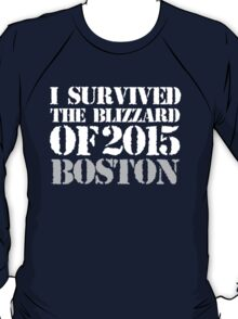 Must-Have 'I survived the Blizzard of 2015 Boston' T-shirts, Hoodies, Accessories and Gifts T-Shirt