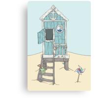 The Beach Hut Canvas Print