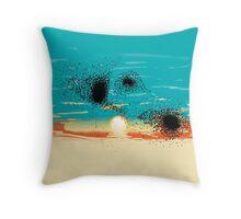Sunset Starlings Throw Pillow