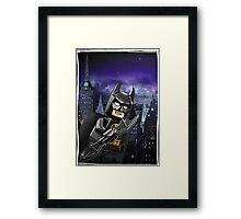 "Lego Batman ""Relax everybody I'm here"" Framed Print"