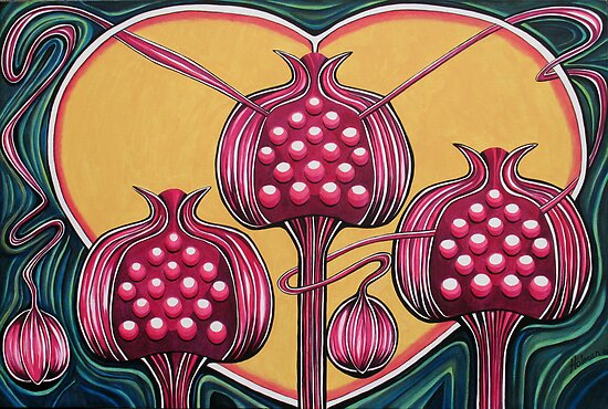 Pomegranates by Deborah Holman