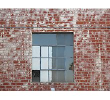 Brick Wall and Window Photographic Print