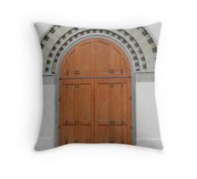 Church Door Throw Pillow