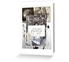 MUERTE, CORONA Y VIDA (death, crown & Life) Greeting Card