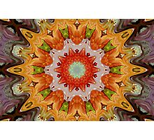 Orange Burst Photographic Print