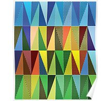 Abstract triangles Poster