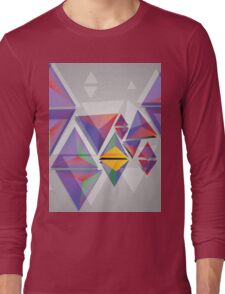 Abstract triangles 3 Long Sleeve T-Shirt