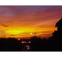 Orange Blaze Photographic Print