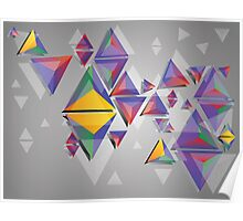 Abstract triangles 4 Poster