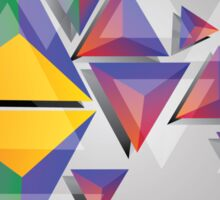 Abstract triangles 4 Sticker
