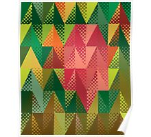 Abstract triangles 5 Poster