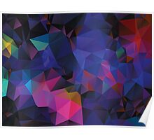 Colorful Geometric Background 3 Poster