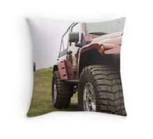 Jeep and monster truck Throw Pillow