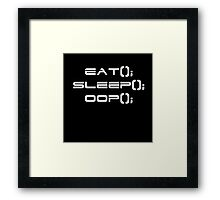 Eat, Sleep, OOP Framed Print