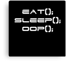 Eat, Sleep, OOP Canvas Print