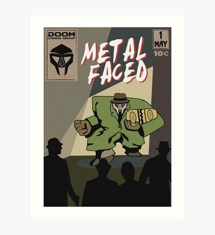 Metal Faced - Comic Cover Art Print