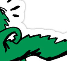 Green Dinosaur Running Sticker