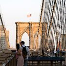 Brooklyn Bridge Couple by Louis Galli