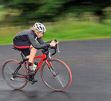 Panned Peebles Pedaller In 10 Mile TT Action by photobymdavey
