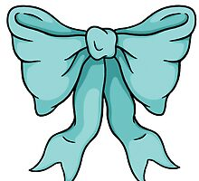 Blue Bow by TeaForMeDesigns