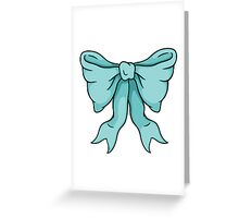 Blue Bow Greeting Card
