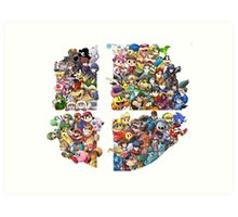 Super Smash Bros. 4 Ever Art Print