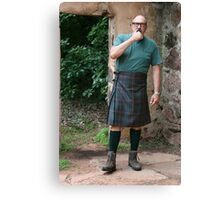Jake, Contemplating the Kilt Canvas Print