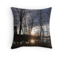 Winter's Candle Throw Pillow