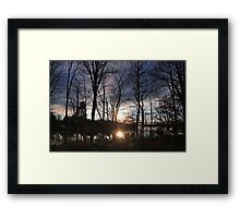 Winter's Candle Framed Print