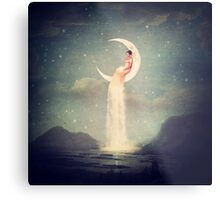 Moon River Lady Metal Print
