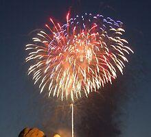 Fireworks over Mt. Rushmore by Patrick Czaplewski