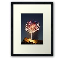 Fireworks over Mt. Rushmore Framed Print