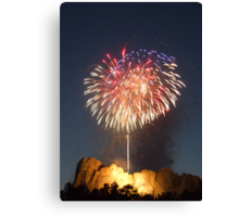 Fireworks over Mt. Rushmore Canvas Print