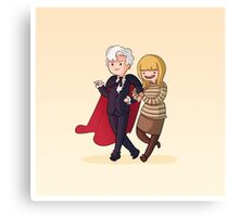 Adventure Time and Space! 3rd Doctor Canvas Print