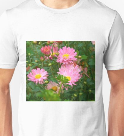 Pink Asters 4 Unisex T-Shirt