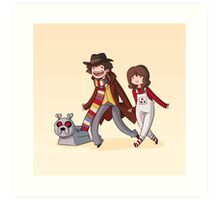 Adventure Time and Space! 4th Doctor Art Print