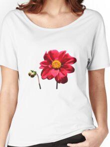 Dahlia flower w/Bud ~ T Women's Relaxed Fit T-Shirt